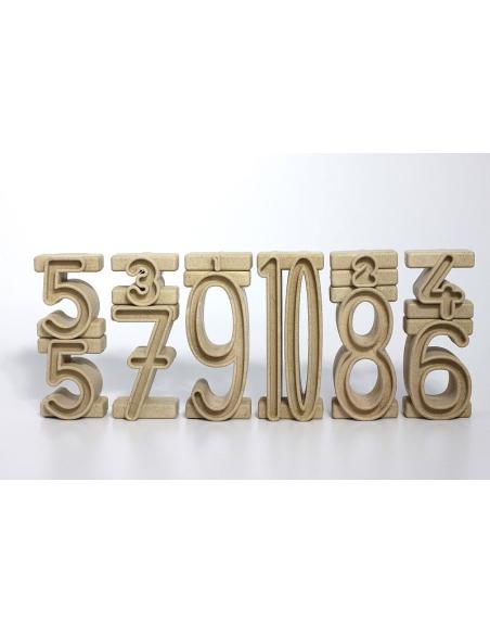 Blocs nombre re-wood chiffres Nature materiel pedagogique numeration montessori singapour sumblox bois eleve maternelle primaire