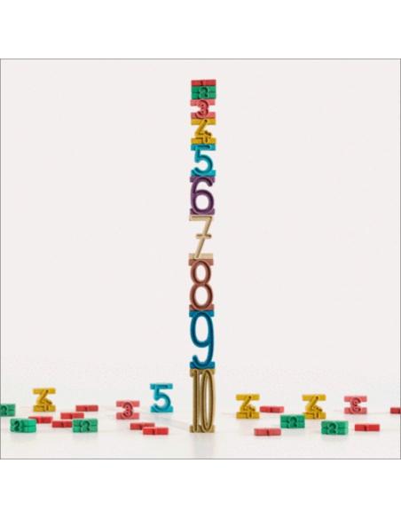 Blocs nombre perles chiffre Nature materiel pedagogique numeration montessori singapour sumblox bois eleve maternelle primaire t