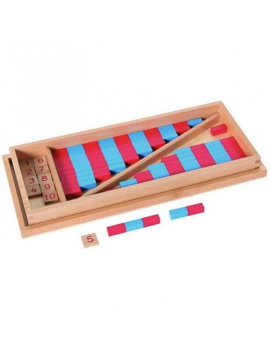 Petites barres numériques bleue rouge Matériel Montessori didactique activite ambiance pedagogie symbole apprendre complement 10