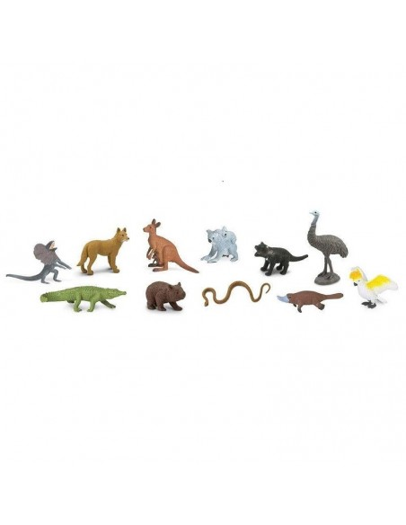 Thème Australie figurine educative montessori enrichissement geographie culture pedagogique koala wombat oceanie safari dingo