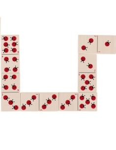 Dominos apprendre compter coccinelles nombre bois ecologique symboles numerique jouet pedagogique educatif goki maths singapoure