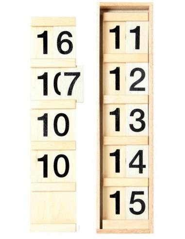 Première table Seguin Matériel Montessori bois hetre chiffre dizaine apprendre mathematique perle