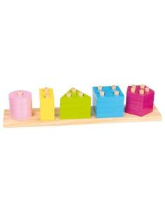 Jeu encastrement formes couleurs premier age motricite fine materiel pedagogique montessori puzzle bois classer manipuler