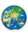 57666 Puzzle planisphere monde glob pays educatif pedagogique montessori partie bois jouet jeu premier