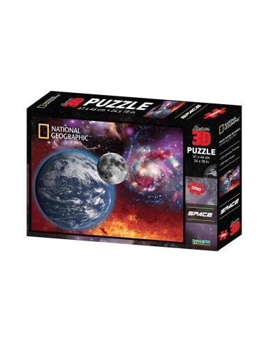 Puzzle de la Terre et la lune - 500pcs National Geographic {PRODUCT_REFERENCE}  Puzzles - 2