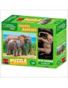 Puzzle 3D éléphant bebe adulte afrique figurine 100 pièces materiel pedagogique educatif national geographic kids continent mont