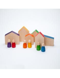 maisons Nins Grapat grapat jeu libre jouet bois alternative coin classe montessori steiner waldorf materiel pedagogique tri