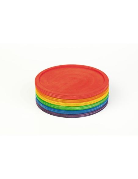 assiette bois arc-en-ciel grapat jeu libre jouet alternative coin classe montessori steiner waldorf materiel pedagogique tri