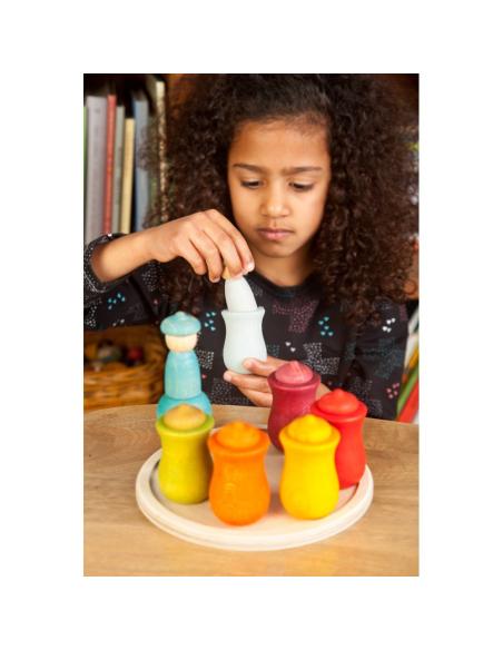Calendrier hebdomadaire lunes grapat jeu libre jouet bois alternative classe montessori steiner waldorf materiel pedagogique tri