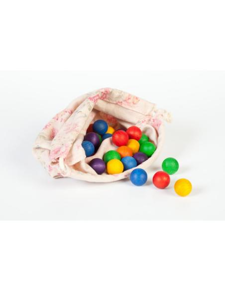billes sac grapat jeu libre jouet bois alternative coin classe montessori steiner waldorf materiel pedagogique tri