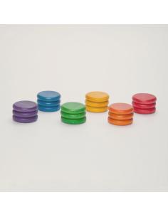 pièces bois couleurs grapat jeu libre jouet bois alternative coin classe montessori steiner waldorf materiel pedagogique tri
