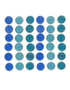 loose part piec bleue grapat jeu libre jouet bois alternative coin classe montessori steiner waldorf materiel pedagogique tri