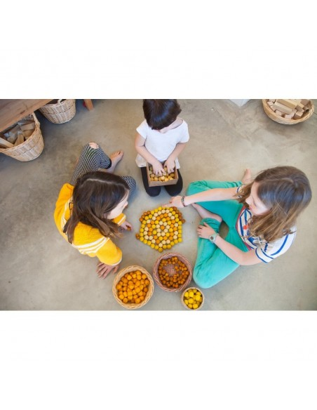 36 pots miel Mandala grapat jeu libre jouet bois alternative coin classe montessori steiner waldorf materiel pedagogique tri