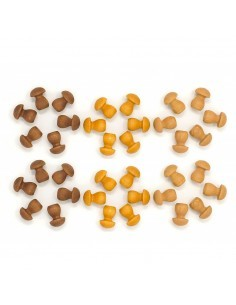 petits champignons grapat jeu libre jouet bois alternative coin classe montessori steiner waldorf materiel pedagogique tri
