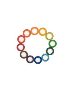 12 anneaux bois Waldorf grapat jeu libre jouet bois alternative coin classe montessori steiner waldorf materiel pedagogique tri