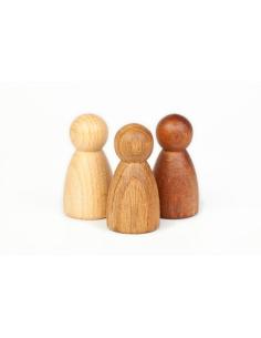 Nins bois différents naturel chene hetre jouet premier age jeu heuristique waldorf montessori steiner apprendre panier tresor