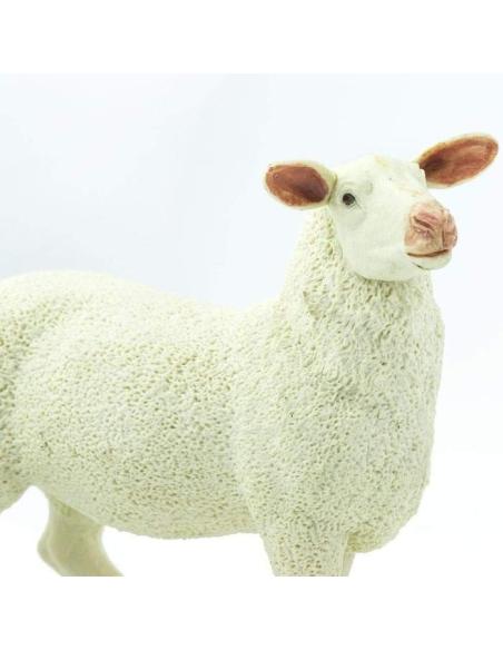 Brebis mouton figurine safari enrichissement montessori 246129 animaux ferme nomenclature pedagogique educatif plastique europe