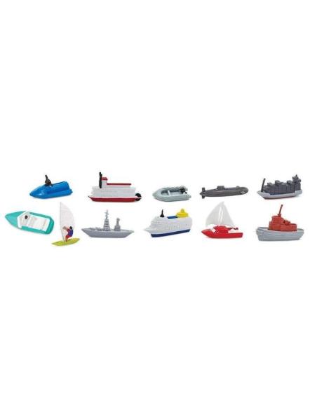 Bateau Véhicule navigue eau figurine educative montessori pedagogique maternelle scolaire mer tube safari lot