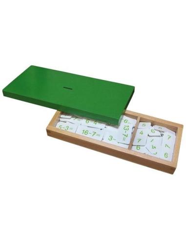 Boîte équations exercices soustractionn Matériel Montessori didactique ticket opération table