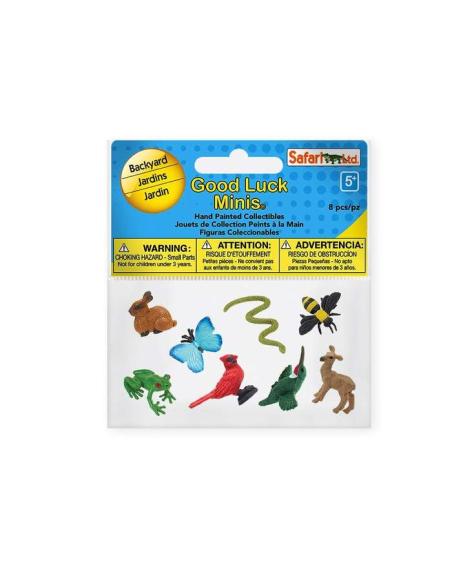Figurines mini animaux du jardin Safari 100223 Matériel pédagogique Enrichissement Montessori Jouet Cartes maternelle science vo
