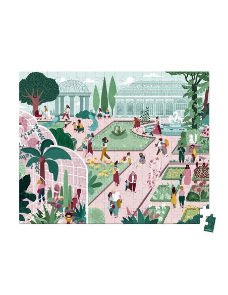 puzzle jardin botanique paris france animaux valisette janod 3ans 4ans materiel pedagogique educatif j02672 bebe