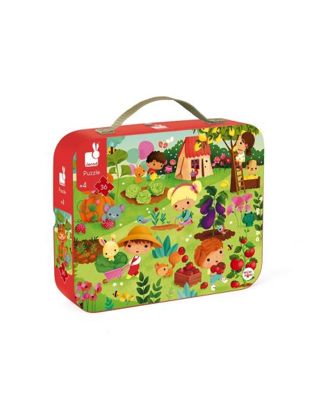 puzzle potager jardin j02663 france animaux valisette janod 3ans 4ans materiel pedagogique educatif bebe