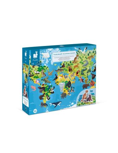 Puzzle éducatif les animaux menacés - 200 pcs Janod Janod {PRODUCT_REFERENCE}  Puzzles - 6