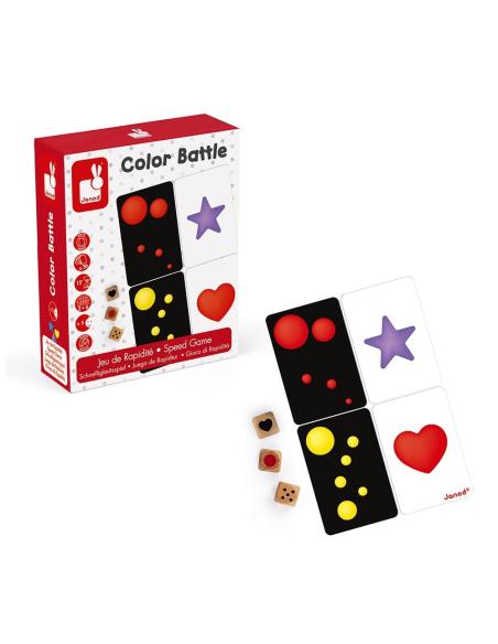 jeu discrimination visuelle rapidite janod color battle forme geometrique couleur