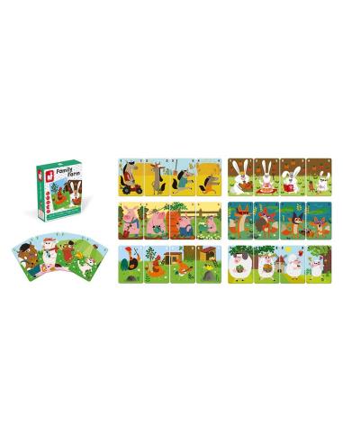 jeu de 7 familles family farm janod carte ludotheque ecole maternelle animaux ferme association materiel educatif