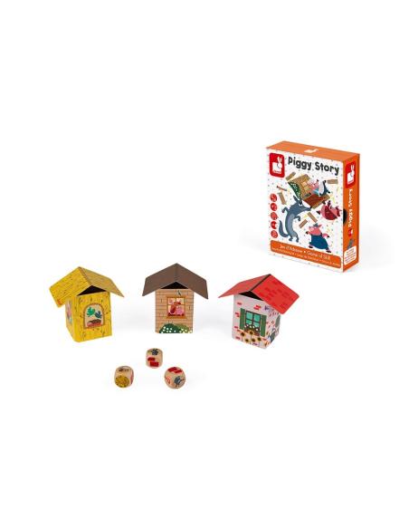 jeu strategie adresse janod piggy story construction motricite fine societe cochon materiel pedagogique educatif