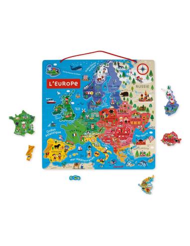 Puzzle magnétique de la carte d'Europe - 40pcs Janod Janod {PRODUCT_REFERENCE}  Géographie - 5