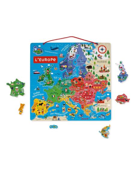 carte puzzle europe magnetique aimant janod j05476 apprendre geographie montessori materiel pedagogique collectivite educatif