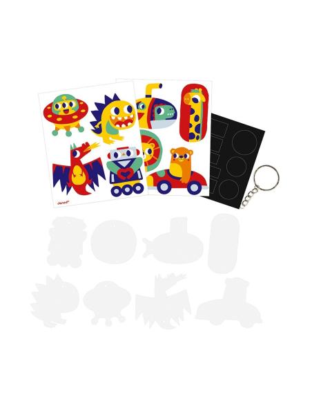 Activité manuelle plastique fou Magnets creatif porte-clés centre aéré mercredi creation artistique janod jouer offrir atelier a