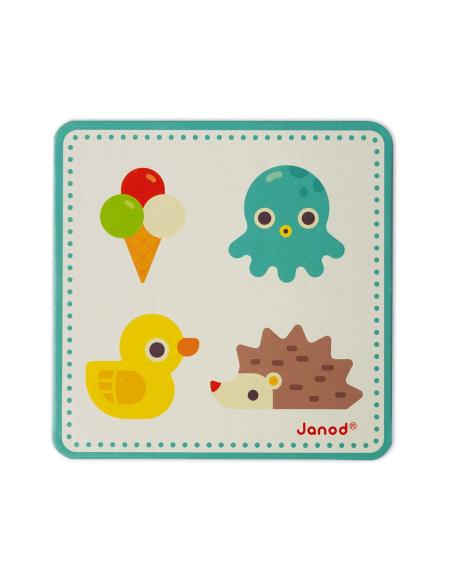 Memory touch' de Janod - Jeu de reconnaissance tactile et sensoriel en bois