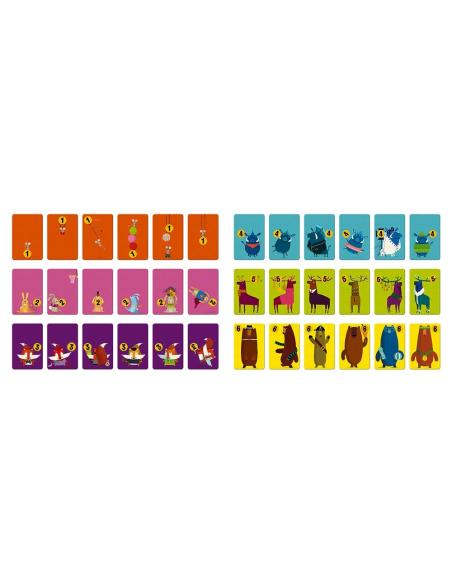 Castagne de Janod - Jeu de cartes - La bataille des chiffres avec les animaux de la forêt