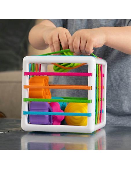Cube activités motrices muscler formes géométriques motricite fine globale reeducation fatbrain innybin texture sport ortho kine