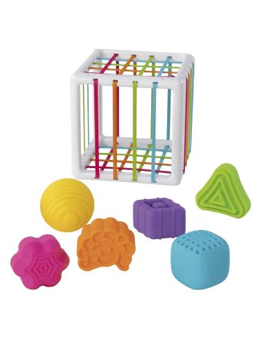 Cube d'activités motrices et 6 formes géométriques - motricité fine et globale - FatBrain Fat Brain Toys {PRODUCT_REFERENCE}  Mo