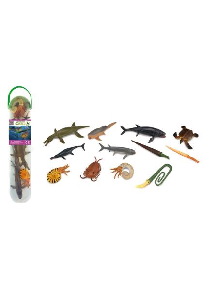 Lot 12 figurines animaux marins Préhistoriques COLLECTA A1104 Matériel pédagogique Enrichissement Montessori Jouet Cartes matern