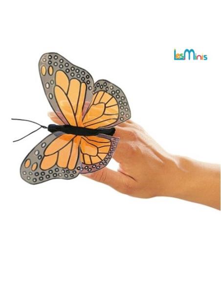 Marionnette à doigt papillon monarque 10 cm jouet pedagogique educatif classe  professionnel enfant eleve orthophonie
