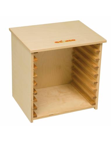 Cabinet meuble de rangement pour puzzle 24cm educo nienhuis cycle mobilier scolaire classe ecole maternelle primaire