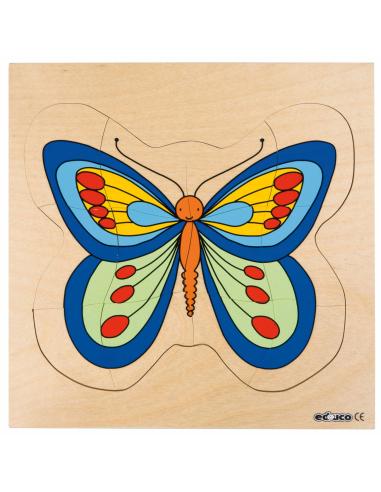 Puzzle evolutif étages cycle Papillon croissance oeuf chenille cocon materiel science pedagogique educatif