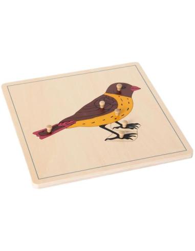 Puzzle de l'oiseau Montessori avec poignées de préhension LesMinis Montessori {PRODUCT_REFERENCE}  Biologie - 2