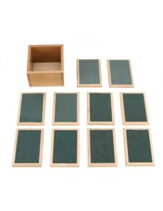 Tablettes rugueuses graduelles materiel montessori didactique