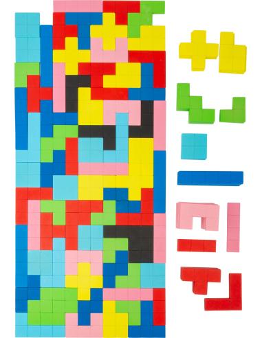 Puzzle jeu de logique Tétris 2D - 144 pièces (bois) - Pavage Small Foot Design {PRODUCT_REFERENCE}  Jeux de maths - 6
