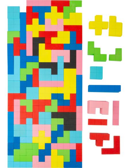 Puzzle jeu Tétris BOIS PLATEAU PLANE FIGURE reproduire materiel pedagogique pavage maternelle primaire ecole