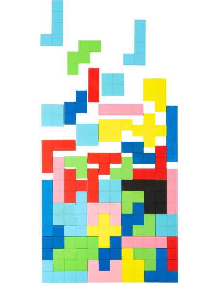 Puzzle jeu Tétris BOIS PLATEAU PLANE FIGURE reproduire sequencage pavage maternelle primaire ecole