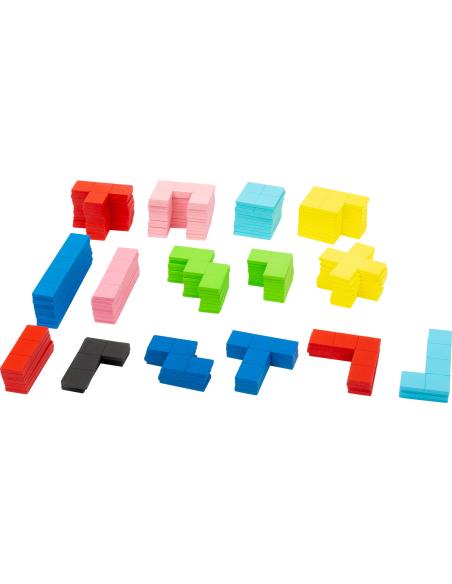 Puzzle jeu Tétris BOIS PLATEAU PLANE FIGURE reproduire modele figure geometrique pavage maternelle primaire educatif