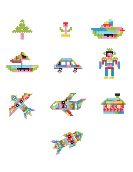 Puzzle jeu Tétris BOIS PLATEAU PLANE FIGURE reproduire modele figure geometrique pavage maternelle primaire ecole