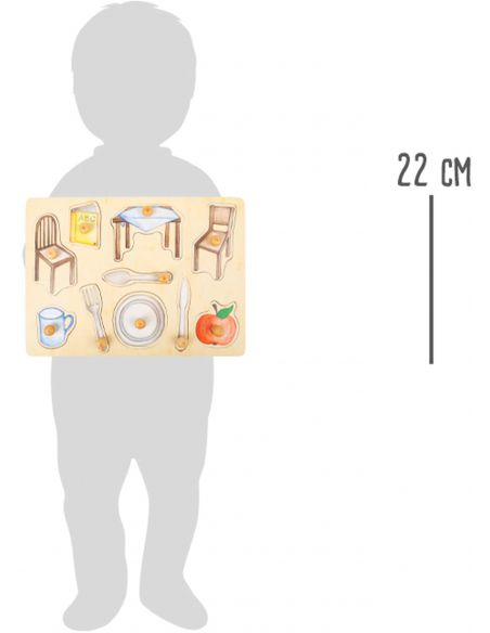 Puzzle pièces à poser Objets du quotidien env. 30 x 22 x 1,5 cm