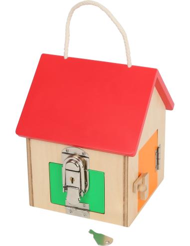 Maison à serrures Montessori Small Foot Design 12090  Motricité fine - 3